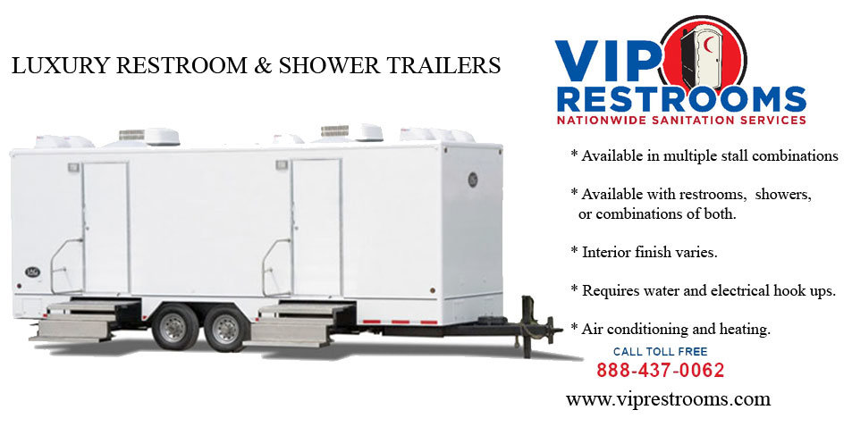 Luxury Restroom & shower trailer description