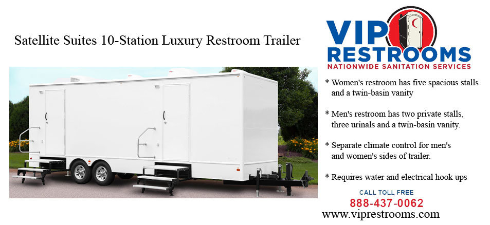 Satellite suite restroom trailer description