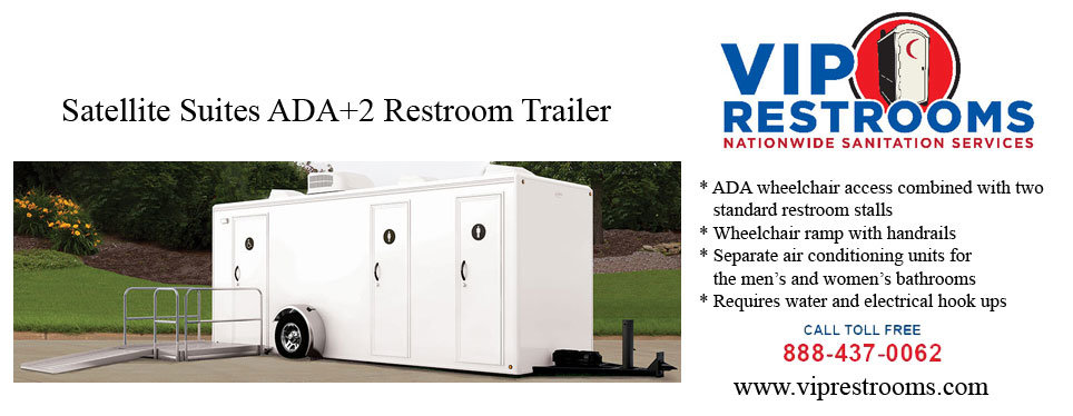 Sat ada portable restroom trailer description