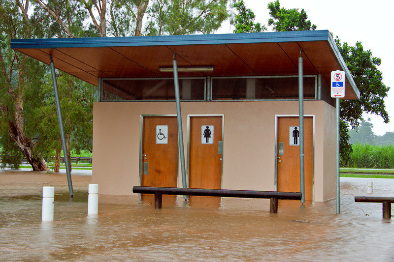 disaster restrooms in flooding