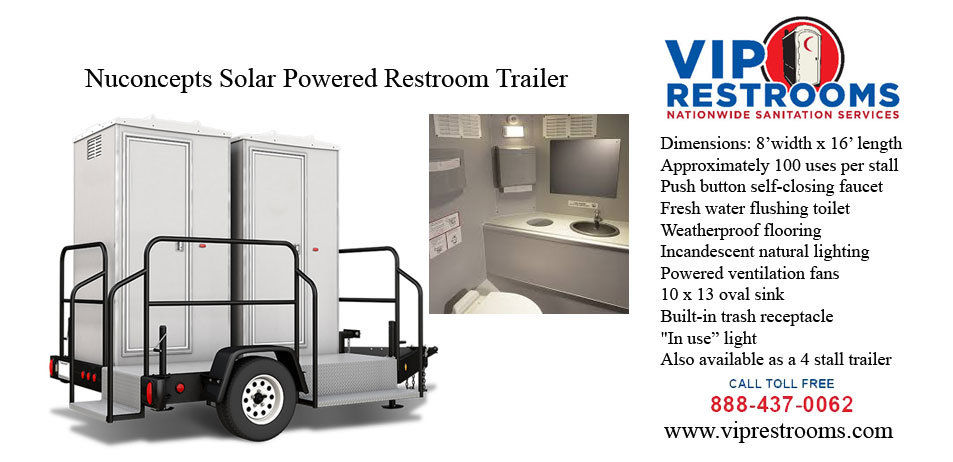 Nuconcepte Solor Powered Portable Restrooms