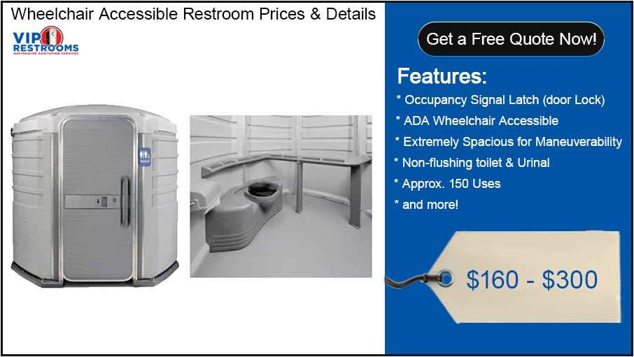 Wheelchair Accessible ADA Porta Potty Prices